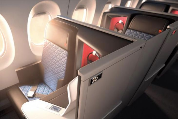 "Delta's A350s will also debut its new Delta One business cabin. (Image:"" Del;ta)"