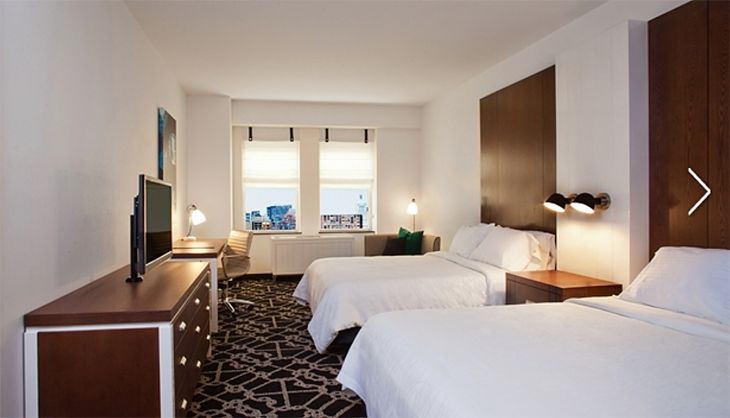 A guest room at the Brooklyn Hilton. (Image: Hilton)