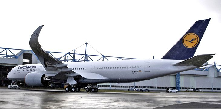 Lufthansa recently took delivery of its first A350 from Airbus. (Image: Lufthansa)