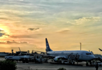 Alaska Airlines flies away from Havana, Cuba in January