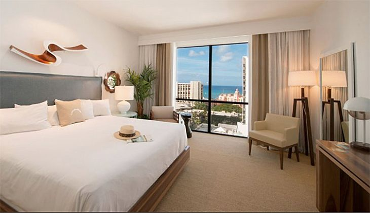 A guest room at the Hyatt Centric Waikiki. (Image: Hyatt)