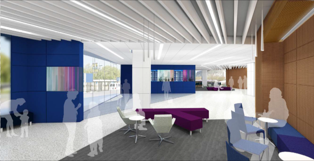 A look at what the new International Arrivals lobby (Image: SJC)
