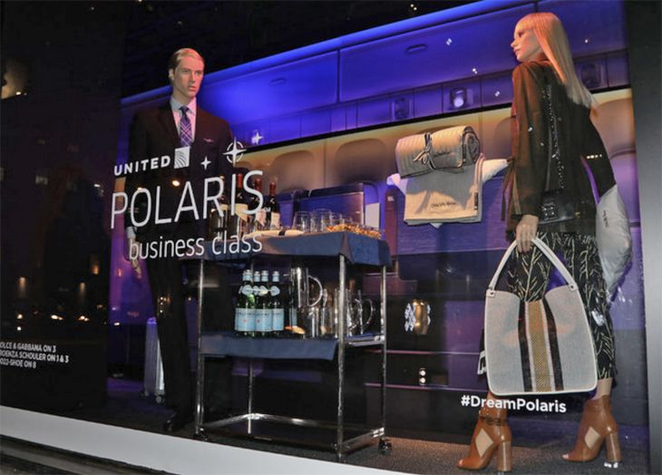 The display features cutaways of the Polaris cabin. (Image: United)