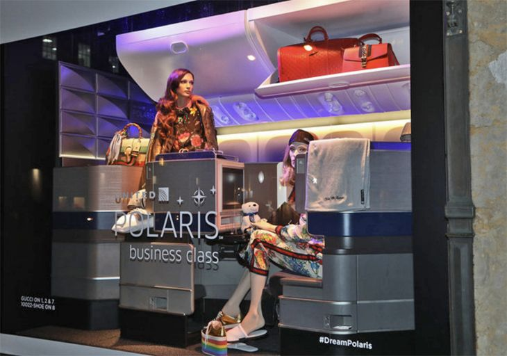 Polaris cabins have plenty of overhead storage space. (Image: United)