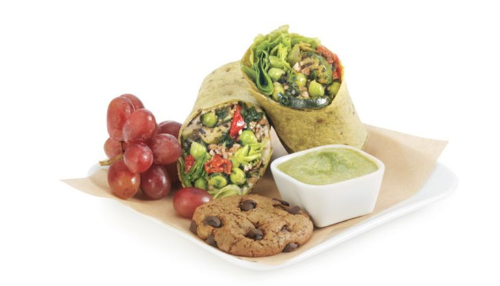 Delta's free Main Cabin offerings will include a Luvo veggie wrap. (Image: Delta)