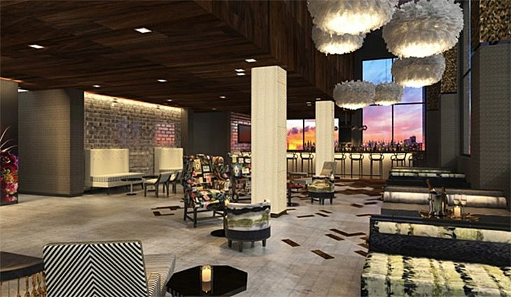The rooftop bar at the new DoubleTree on Manhattan's West Side. (Image: Hilton)