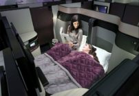 Double beds in business class