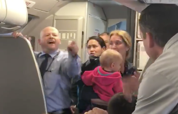 Another violent onboard altercation caught on video