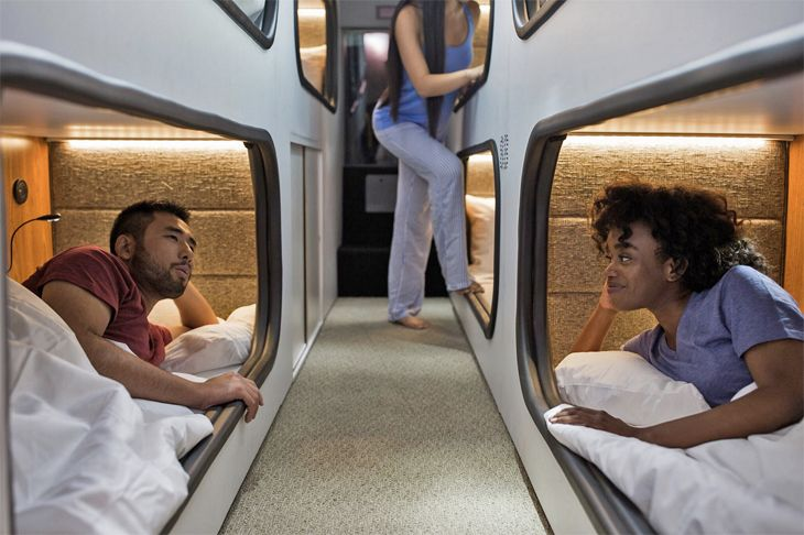 Overnight sleep pods for $115 between L.A.-San Francisco