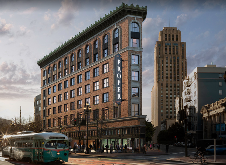 The Trendy New Proper Hotel Opens In San Francisco S Mid Market Area August With Bunk Rooms Image Hotels