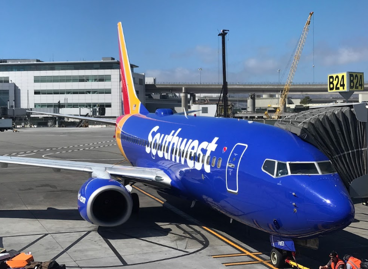 Southwest Airlines Boeing 737 at SFO
