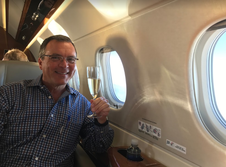 Embraer Chris McGinnis champagne