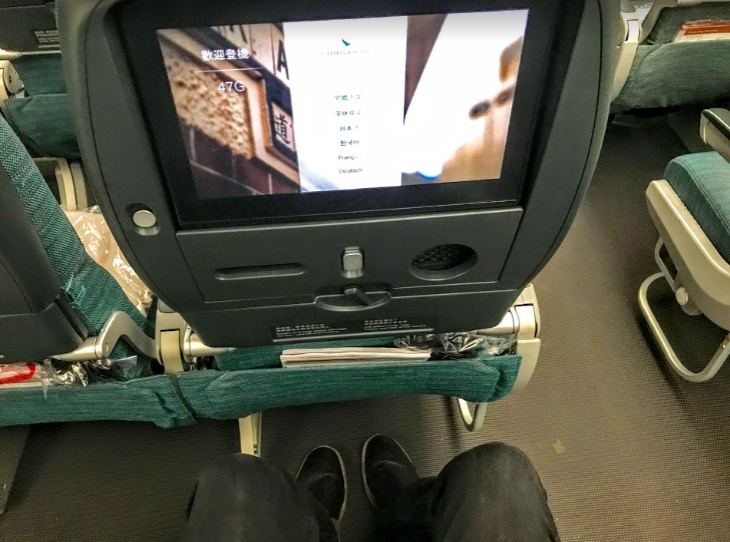 Cathay Pacific A350 knees legroom