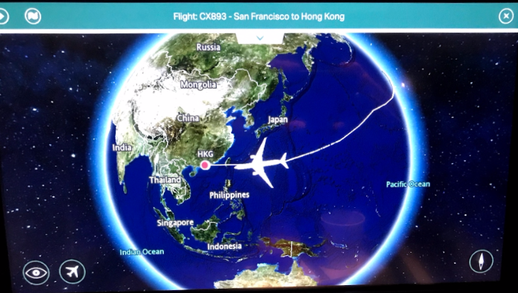 Cathay Pacific map hong kong