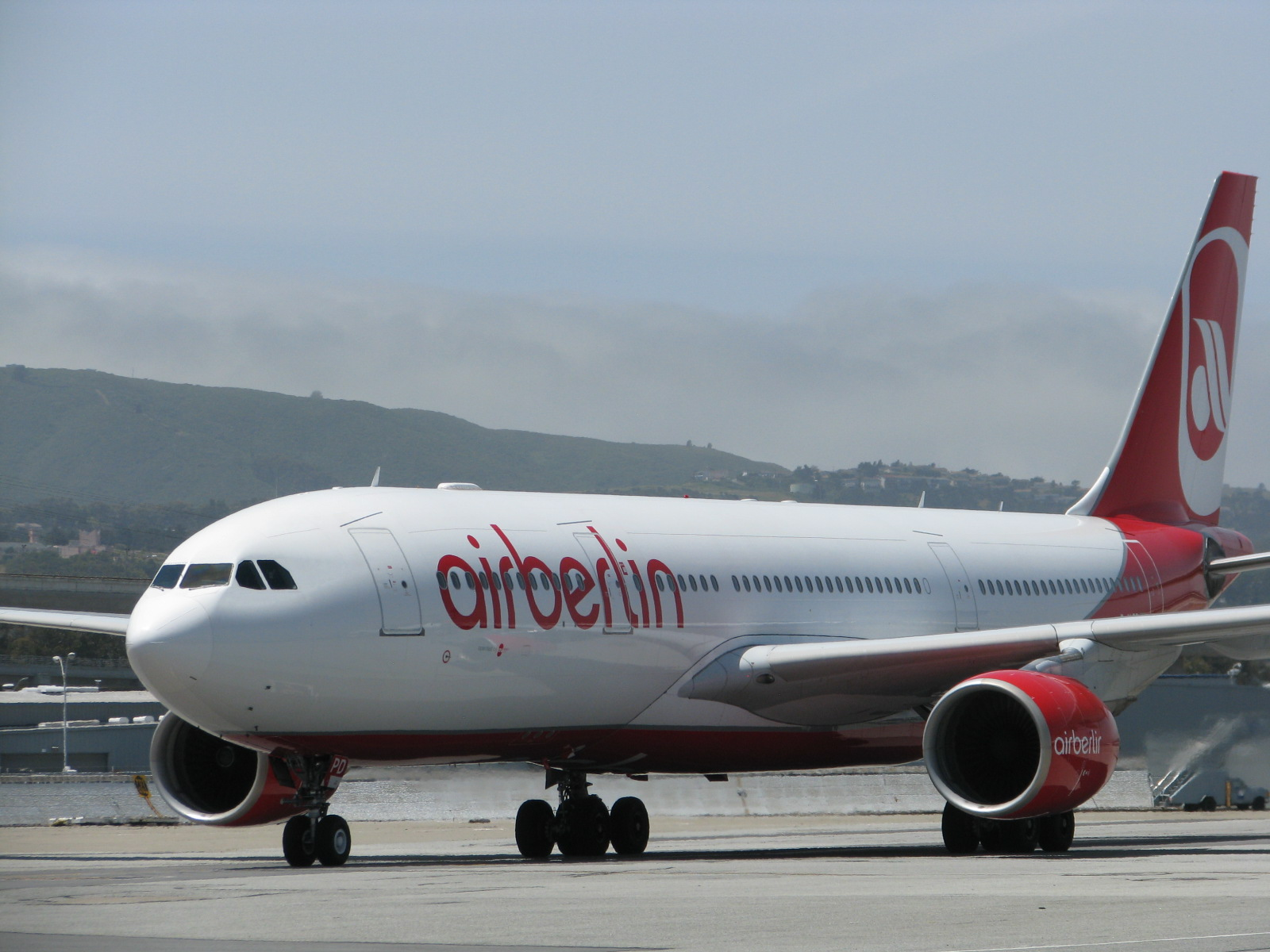 An Air Berlin A330-200 at SFO