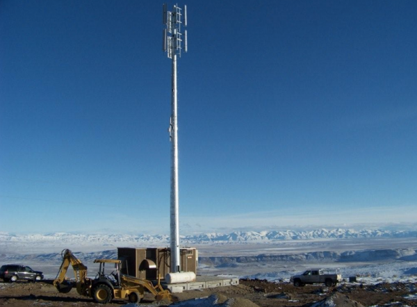 Gogo tower in remote Nevada location