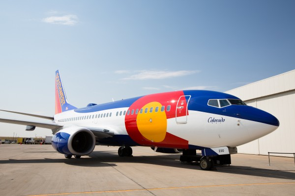 Southwest Airlines recently painted a 737 based on the Colorado state flag.