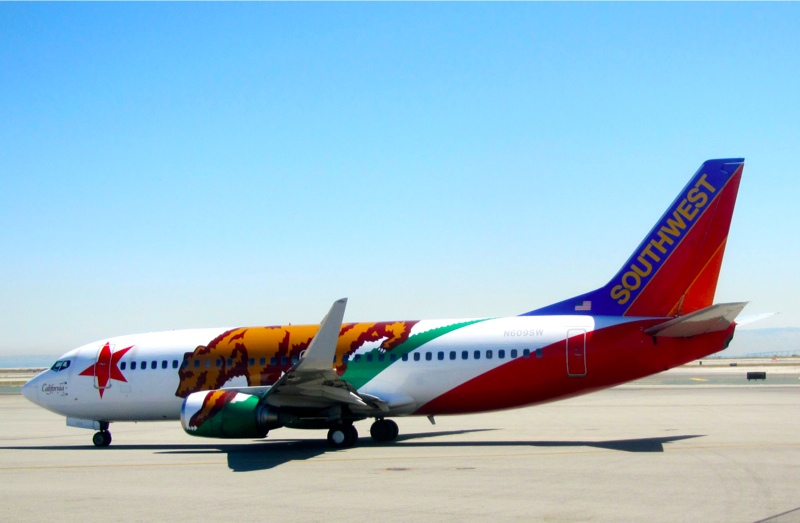 Southwest 737 decked out in California state flag livery (Photo: Chris McGinnis)
