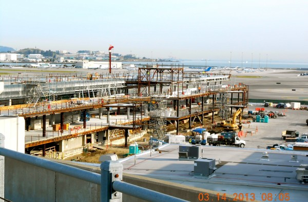 Construction progress on Boarding Area E at United's Terminal 3 at SFO. (Photo: SFO)