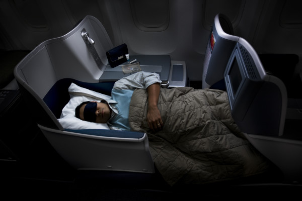 Delta's flat bed seating on a 767. (Photo: Delta Air Lines)