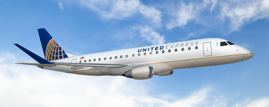 New 76-seat Embraer 175 from United