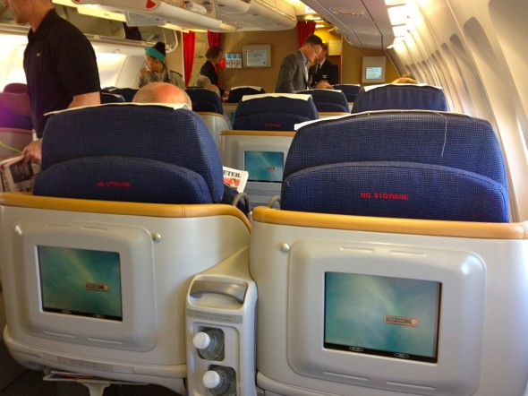 Business class on SAS A340 configured 2-2-2 (Chris McGinnis)