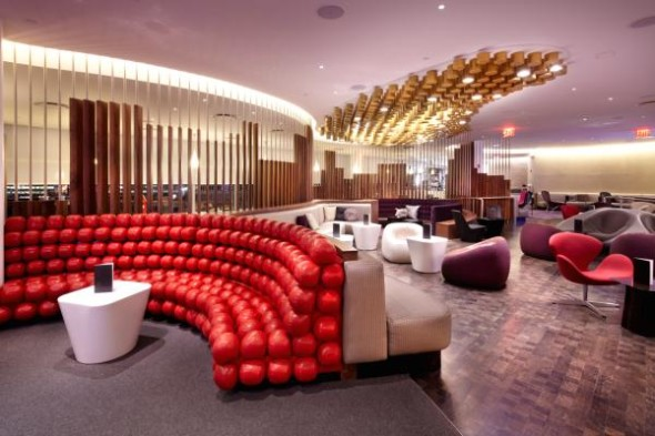 Virgin's super posh, recently renovated Clubhouse at JFK. Seen it yet? (Virgin Atlantic)