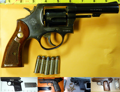Some of the firearms found in hand luggage and confiscated by the TSA