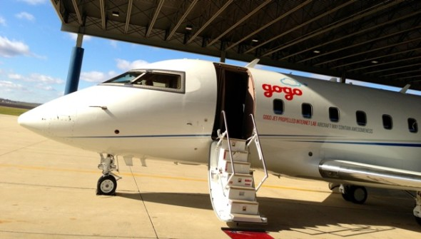 Taking a ride on the Gogo inflight internet lab last year in Itasca, IL (Chris McGinnis)