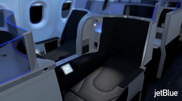 Mock up of JetBlue's new premium seat for SFO-JFK. Thoughts?