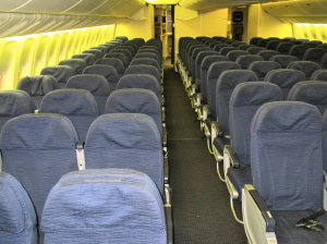 Economy class on United's refurbished 777 configured 3-3-3 (Chris McGinnis)