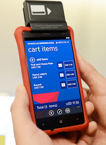 A Nokia 820 used by Delta flight attendants (Photo: Delta)