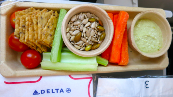 Healthy inflight dining for first AND coach passengers (Chris McGinnis)