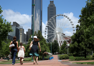 Seen Atlanta's giant new Ferris Wheel located in downtown's Centennial Park? (Photo: AJC.com)