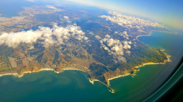 Flying down the coast on a fine fall day peering down at Pacifica & Devil's slide (Chris McGinnis)