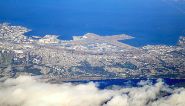 SFO...on a clear day! (Photo Chris McGinnis)