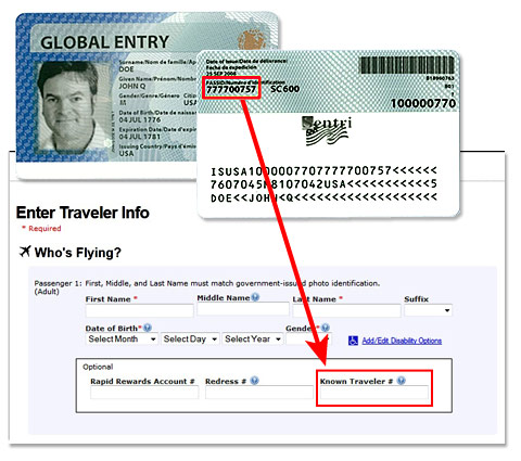Where Is My Known Traveler Number On Global Entry Card