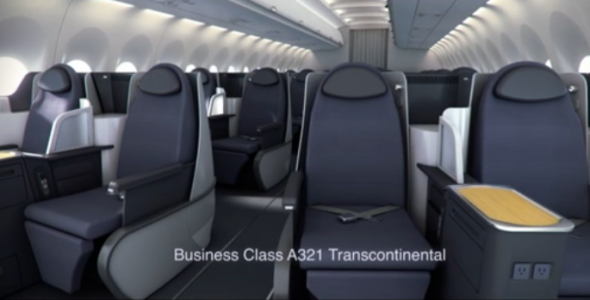 Mock up of AA biz class on A321T