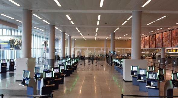Delta's arrival kiosks at it's new JFK Terminal help reduce immigration wait times (Photo: Delta)