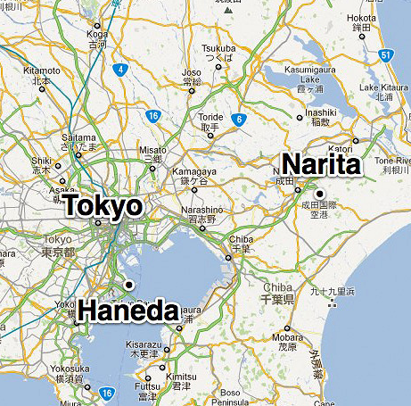 Tokyo's Haneda Airport is much more convenient than distant Narita.