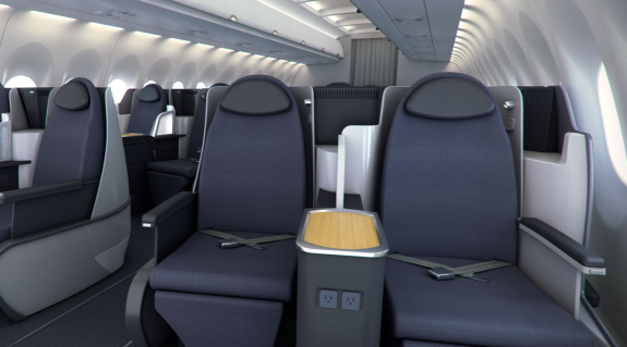American's transcon business class seats are nearly identical to United's- both lie flat (Photo: AA)