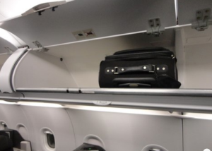 Overhead storage is ample-- a nice change from the older 767s! (Photo: Nancy Branka)