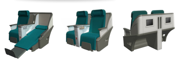 "Currently, business class seats on Aer Lingus are ""angled lie flat"""