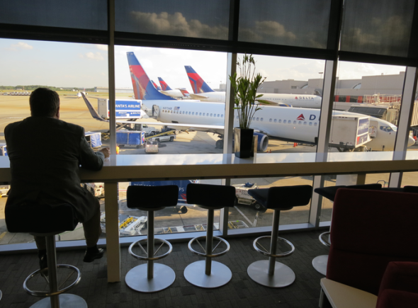 Delta's Sky Club at ATL (Chris McGinnis)