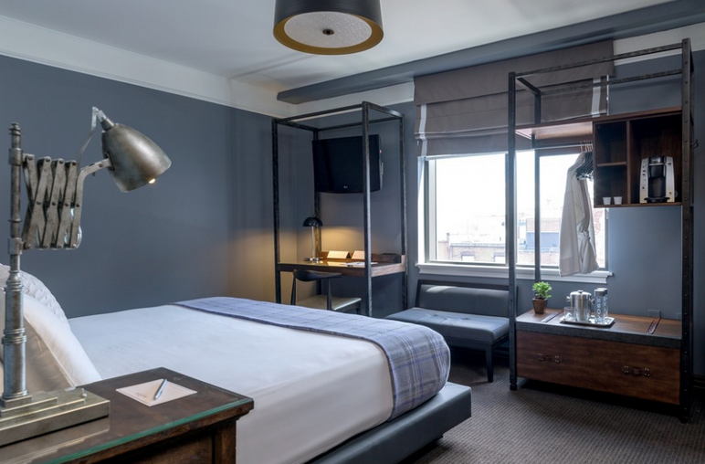 A room at the recently re-done Boxer Hotel on Boston's North End (Photo: Boxer Hotel)