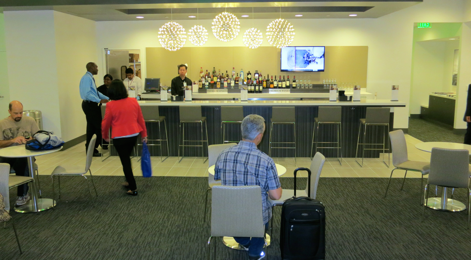 A big bright full service bar with lighting similar to that in the new London club (Photo: Chris McGinnis)