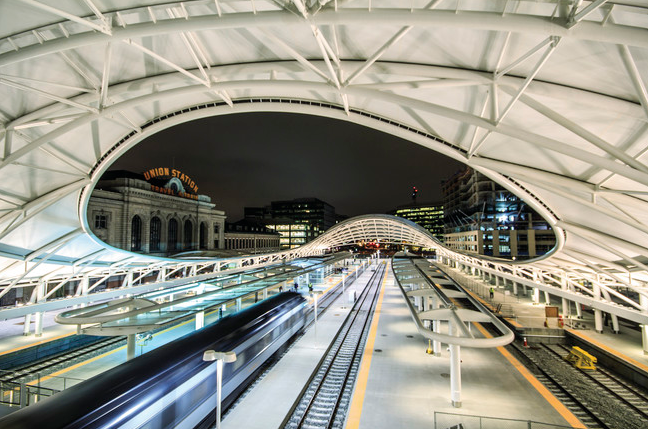 Eventually, you'll catch trains from Denver's modern Union Station to Denver International Airport 40 miles northeast of downtown (Photo: RTD)
