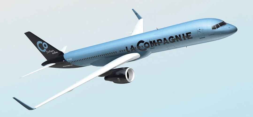 Mock up of a La Compagnie B757