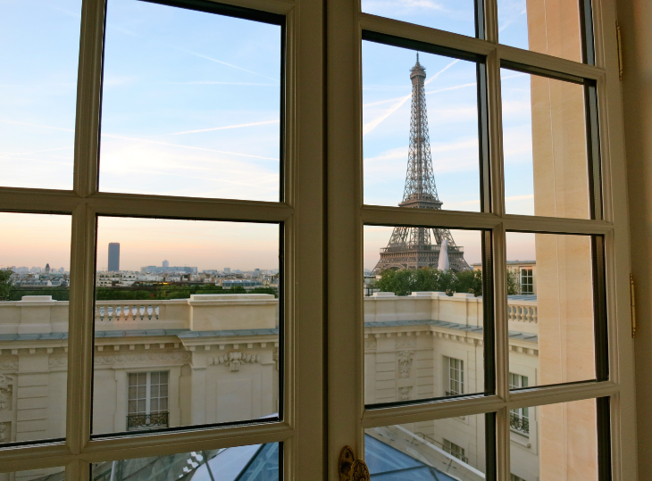 View from a room at the new Shangri-La Paris. Who can't love Paris? (Photo: Chris McGinnis)