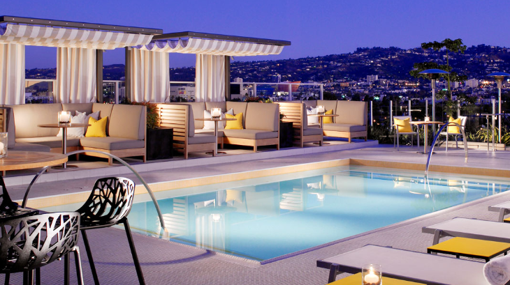 Rooftop pool at Kimpton's Hotel Wilshire in LA (Photo: Kimpton)